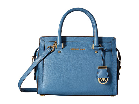MICHAEL Michael Kors - Collins Medium Satchel (Cornflower) Satchel Handbags
