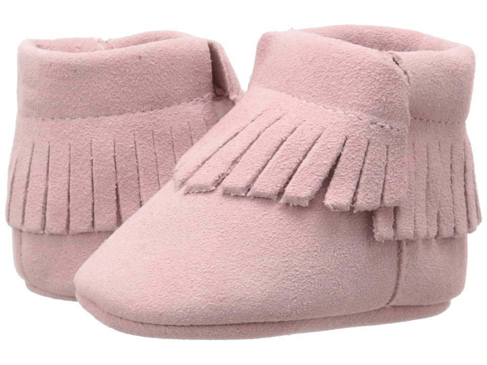 Baby Deer - Moccasin Suede (Infant) (Pink) Girls Shoes