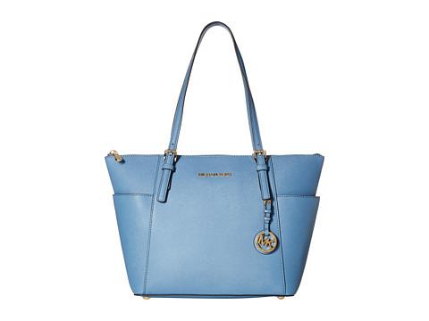MICHAEL Michael Kors - Jet Set Saffiano Top Zip Tote (Cornflower) Tote Handbags