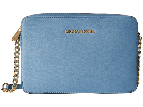MICHAEL Michael Kors - Jet Set Travel LG Ew Crossbody (Cornflower) Cross Body Handbags