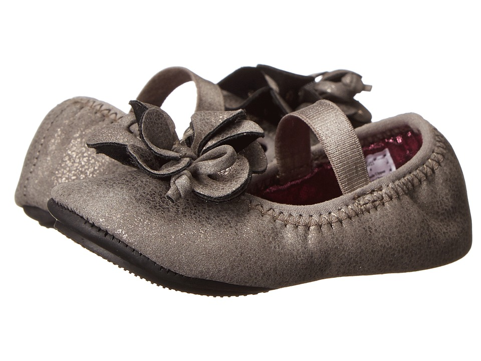Baby Deer - Metallic Foldable Ballet (Infant/Toddler) (Taupe) Girls Shoes