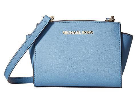 MICHAEL Michael Kors - Selma Mini Messenger (Cornflower) Cross Body Handbags