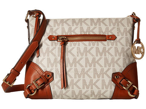 MICHAEL Michael Kors - Fallon Medium Messenger (Vanilla) Messenger Bags