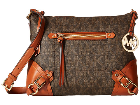 MICHAEL Michael Kors - Fallon Medium Messenger (Brown) Messenger Bags