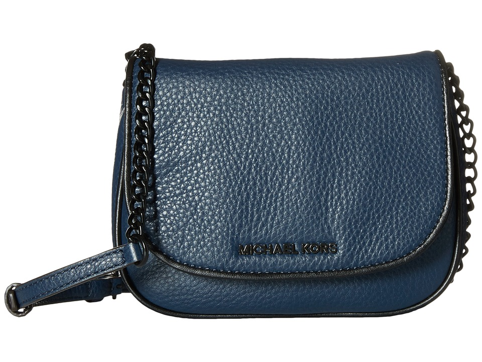 MICHAEL Michael Kors - Jet Set French Binding Small Crossbody (Navy/Black) Cross Body Handbags