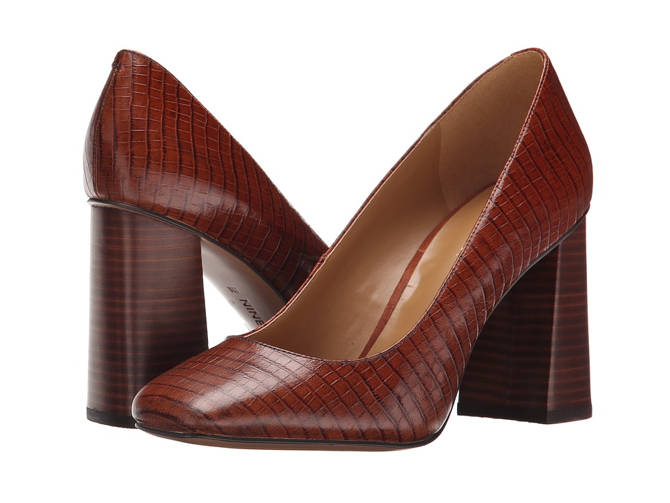 Nine West - Begonia (Dark Natural Croco) High Heels