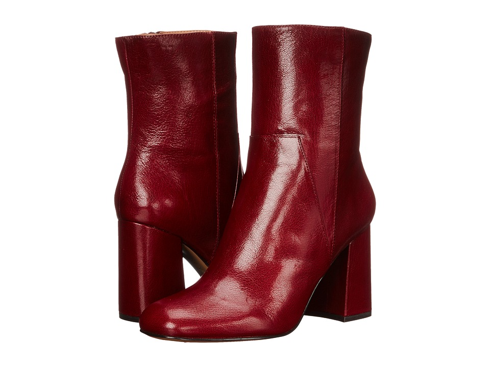 Nine West - Dollface (Dark Red Leather) High Heels