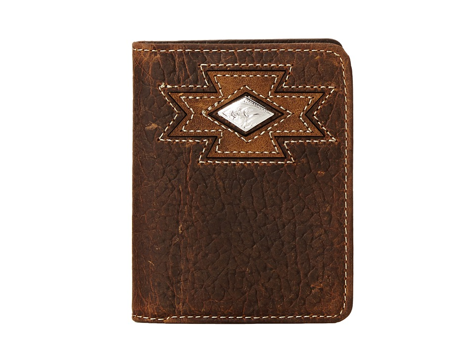 Ariat - Southwest Cutout Bi-Fold Wallet (Brown) Wallet Handbags