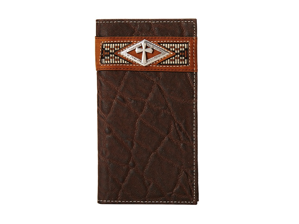 Ariat - Diamond Cross Concho Rodeo Wallet (Brown) Wallet Handbags