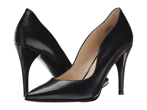 Nine West - Fiddler (Black Leather) High Heels