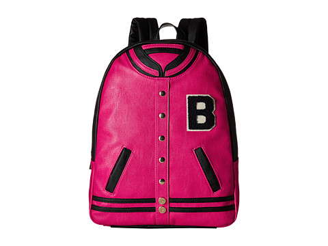 Betsey Johnson - Kitch Varsity Backpack (Fuchsia) Backpack Bags