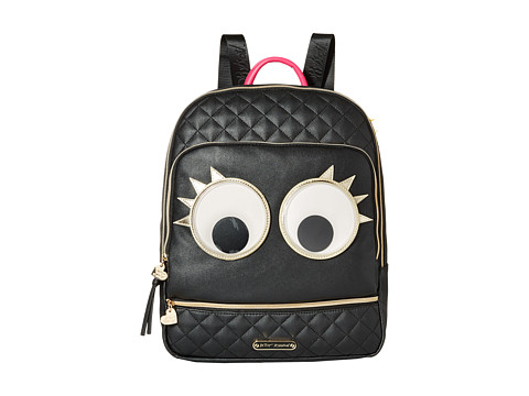 Betsey Johnson - Googly Backpack (Black) Backpack Bags