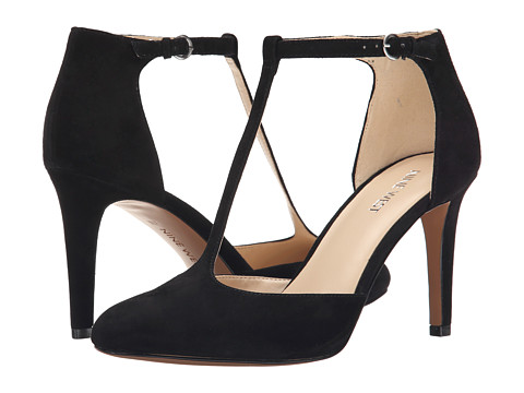 Nine West - Halinan (Black Suede) High Heels