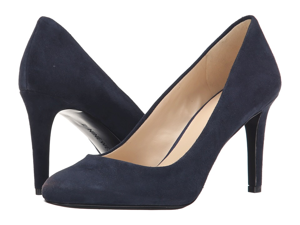 Nine West - Handjive (Navy Suede) High Heels