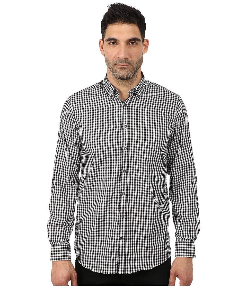 Lindbergh - Checked Long Sleeve Woven (Black) Men's Clothing