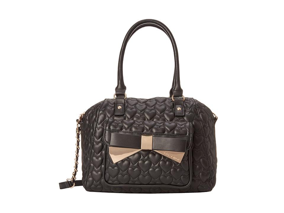 Betsey Johnson - Be Mine Forever Large Satchel (Black) Satchel Handbags
