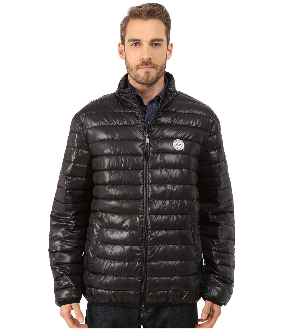 Lindbergh - Quilted Jacket (Black/Navy) Men's Coat