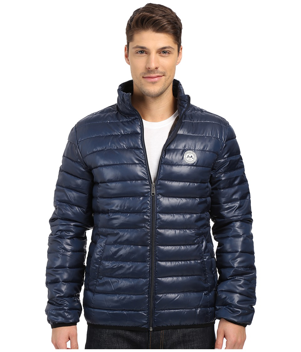 Lindbergh - Quilted Jacket (Navy/Black) Men's Coat