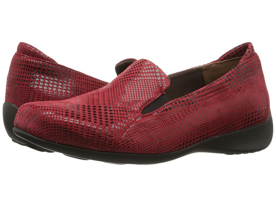 Wolky - Perls (Red Dessin Suede) Women's Slip on Shoes