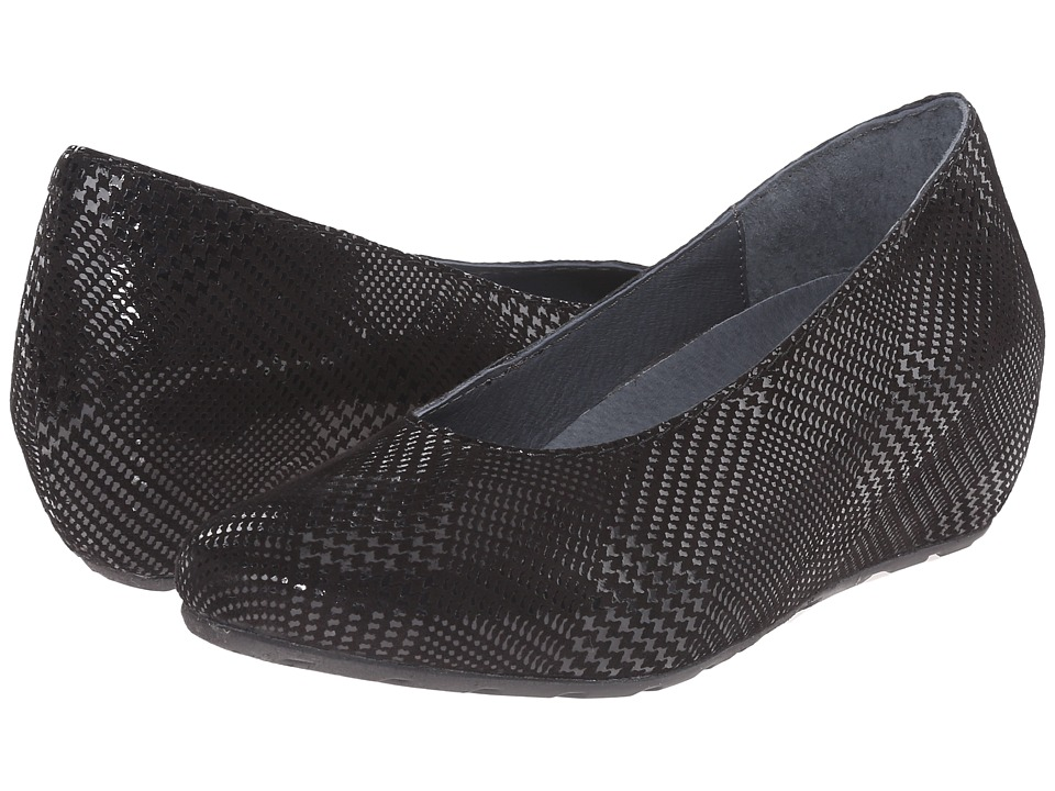 Wolky - Valentine (Black Dessin Suede) Women's Wedge Shoes