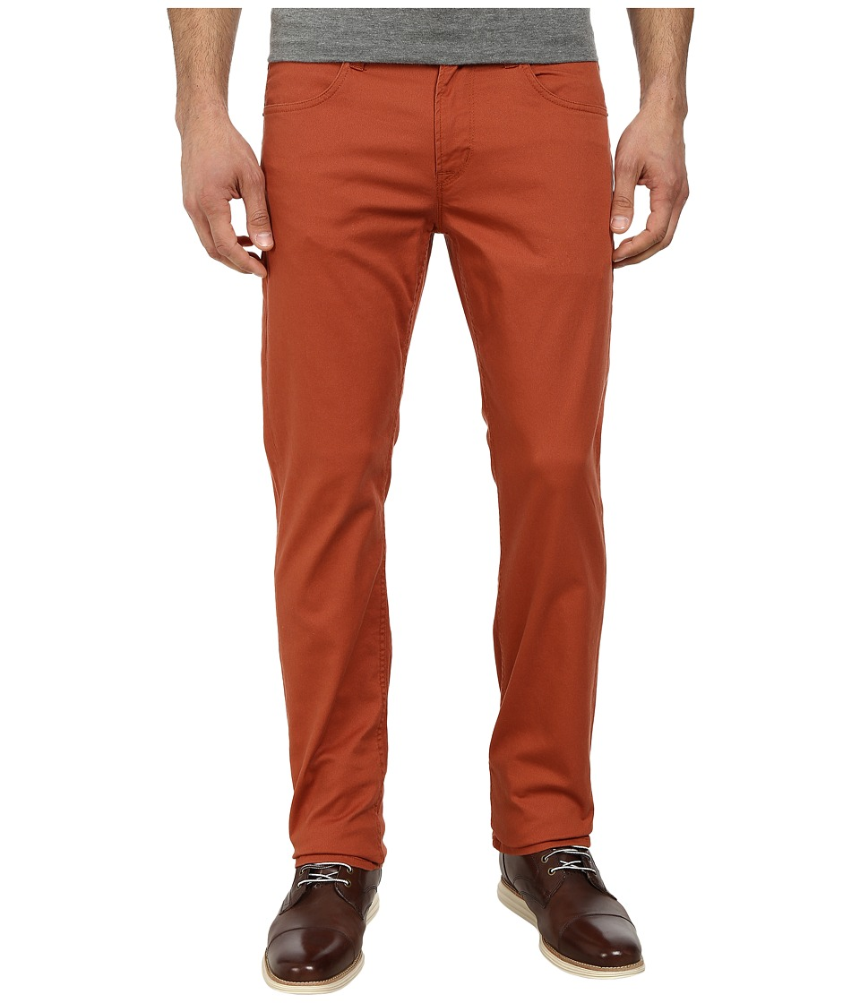 Hudson - Byron Five-Pocket Straight Zip Fly in Rust (Rust) Men