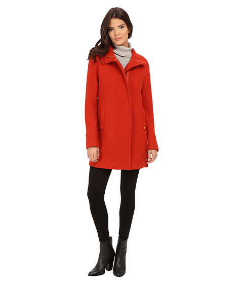 Ellen Tracy - Zip Front Walker (Pumpkin) Women's Coat