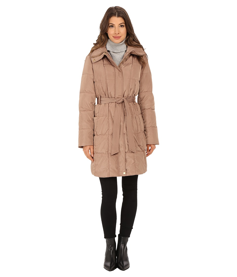 Ellen Tracy - Belted Hooded Walker (Cappucino) Women