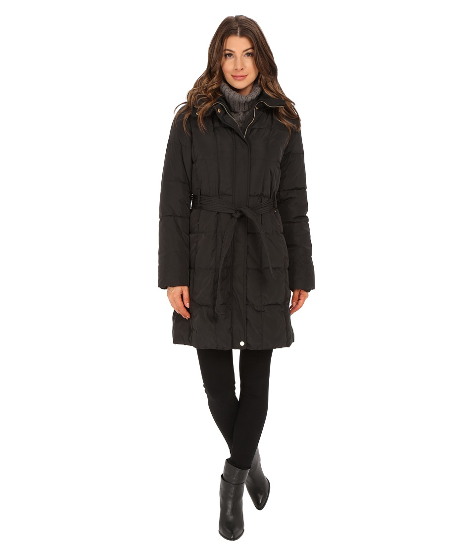 Ellen Tracy - Belted Hooded Walker (Black) Women