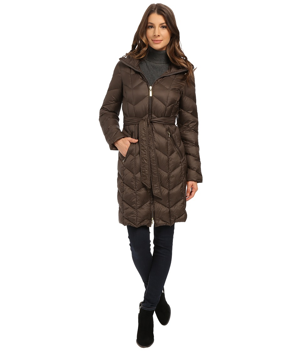 Ellen Tracy - Zip Front Hooded Walker (Olive) Women