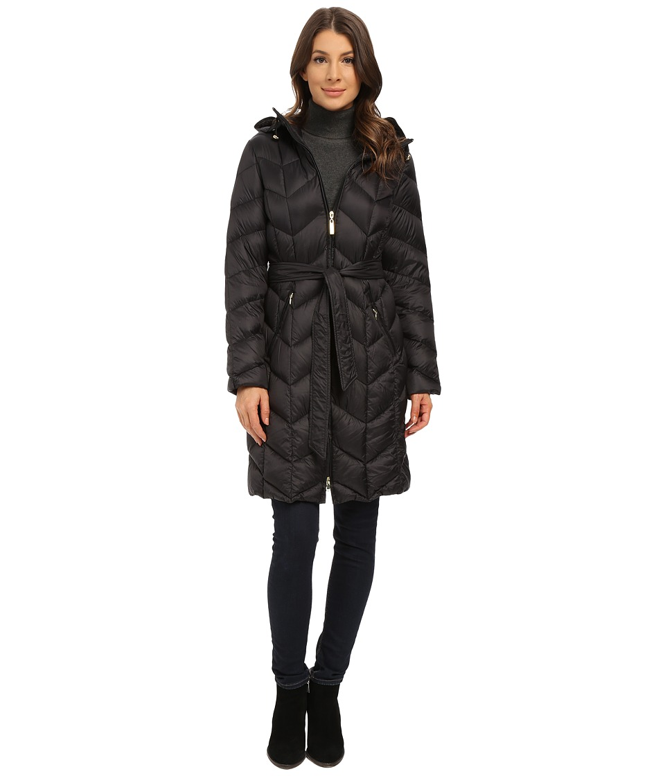 Ellen Tracy - Zip Front Hooded Walker (Black) Women