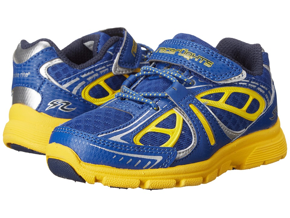 Stride Rite - Racer Lights Evolution (Toddler) (Navy/Yellow) Boys Shoes