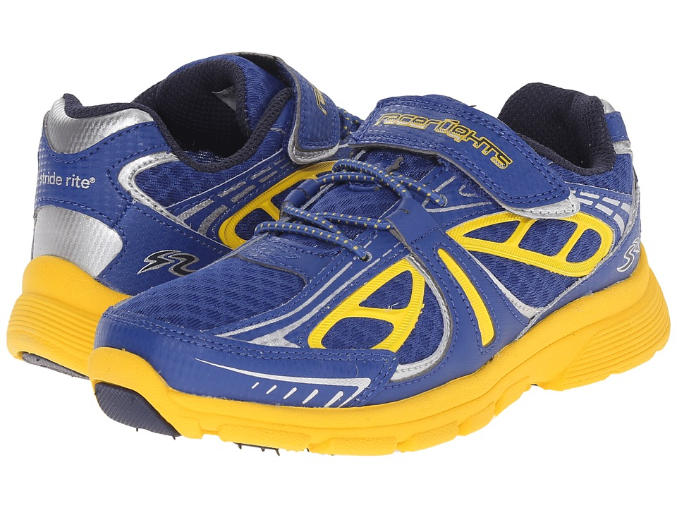 Stride Rite - Racer Lights Evolution (Little Kid) (Navy/Yellow) Boys Shoes