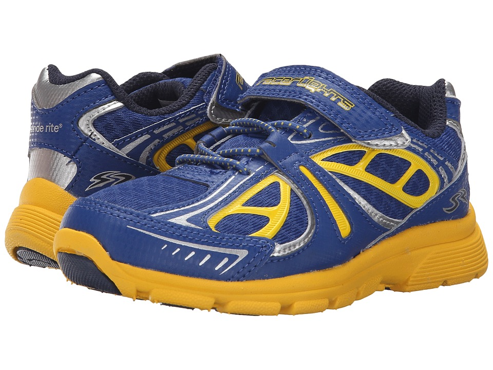 Stride Rite - Racer Lights Evolution (Toddler/Little Kid) (Navy/Yellow) Boys Shoes