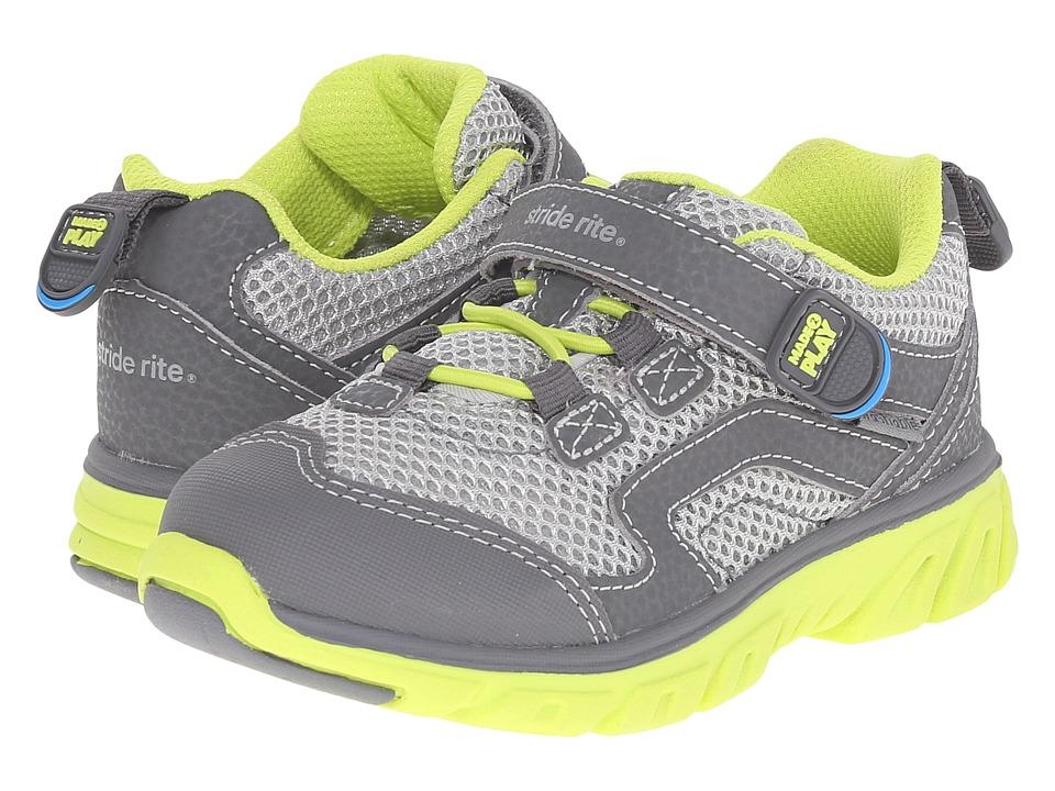 Stride Rite - M2P Jake (Toddler/Little Kid) (Grey/Lime) Boy's Shoes