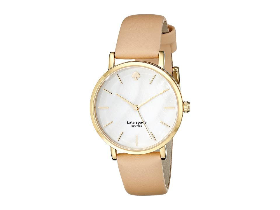 Kate Spade New York - Metro - 1YRU0073 (Gold/Vachetta 1) Analog Watches