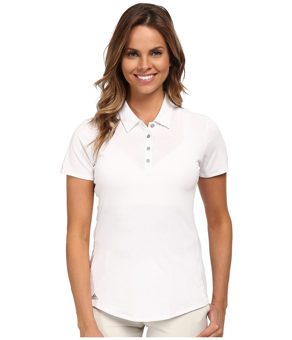 adidas Golf - Essentials Heather Short Sleeve Polo (White) Women's Short Sleeve Knit