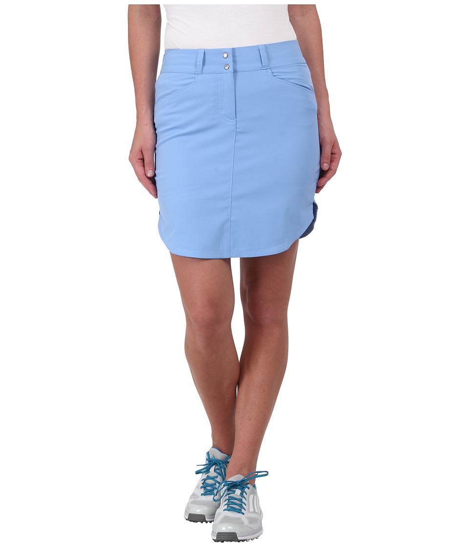 adidas Golf - Essentials 3-Stripes Skort '15 (Bahia Light Blue) Women's Skort