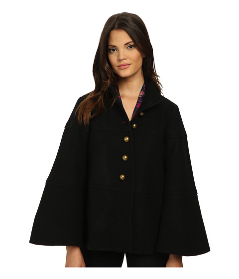 Nanette Lepore - Girls Cape Club (Black) Women's Coat