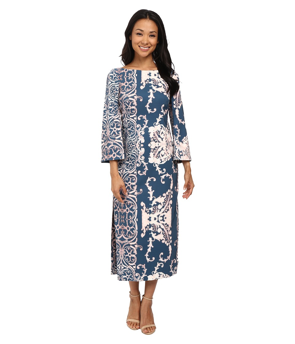 Nanette Lepore Ornate Print Dress (Teal Multi) Women