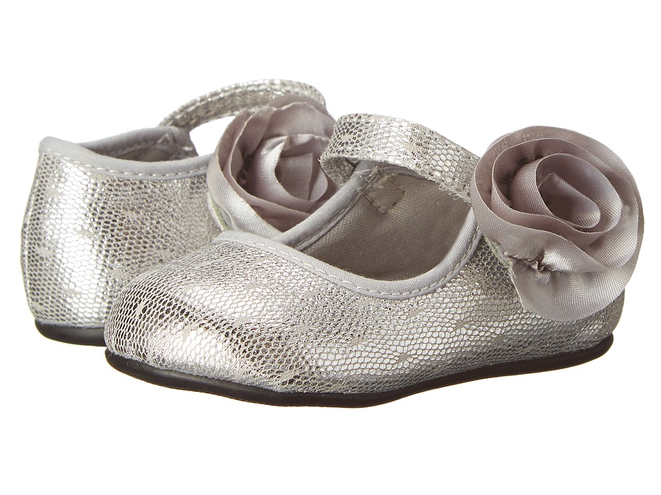 Baby Deer - Skimmer Metallic (Infant/Toddler) (Silver) Girls Shoes