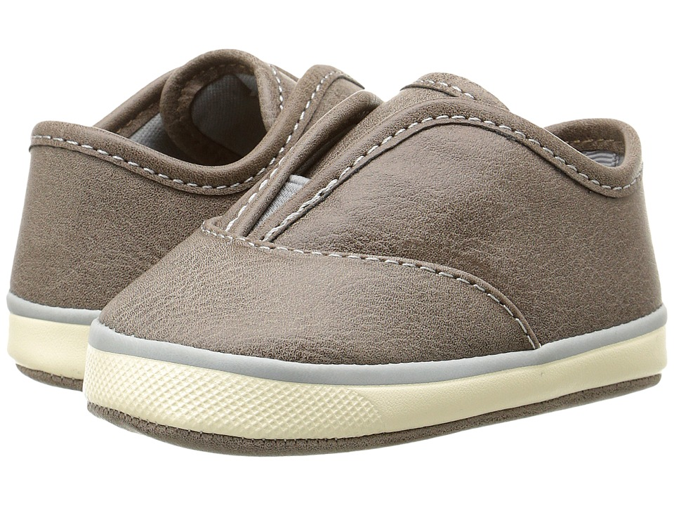 Baby Deer - Slip-On with Gore (Infant) (Taupe) Boys Shoes