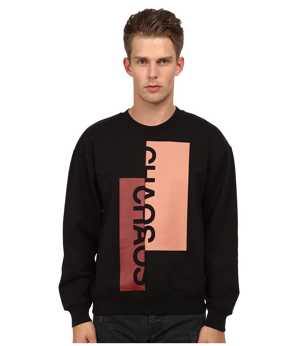 McQ - Chaos Sweatshirt (Darkest Black) Men