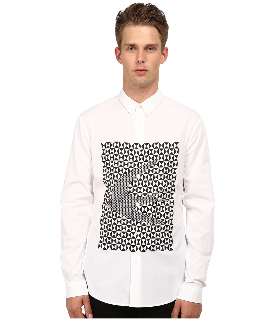 McQ - Googe Shirt (Optic White) Men's Long Sleeve Button Up