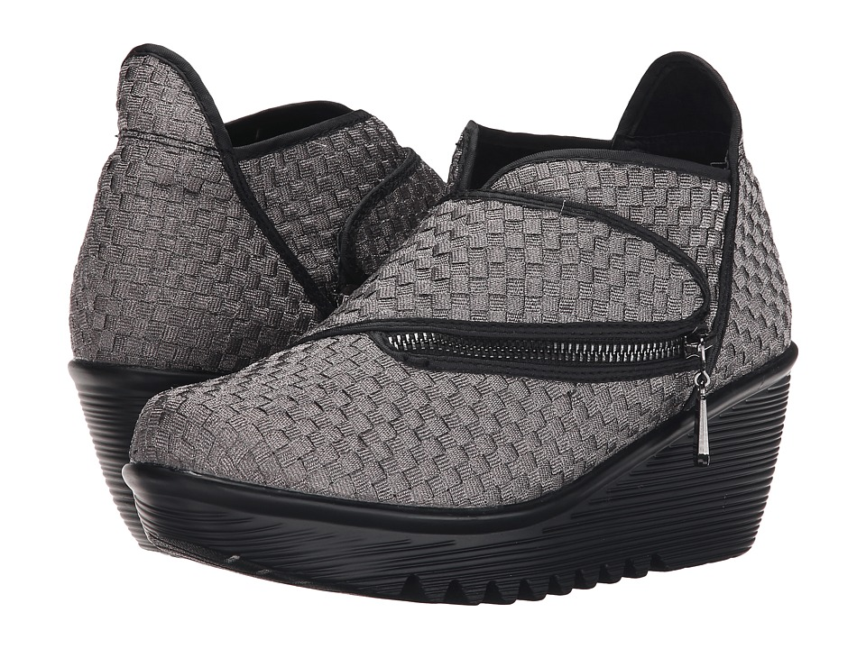 bernie mev. - Zigzag (Gunmetal) Women's Wedge Shoes