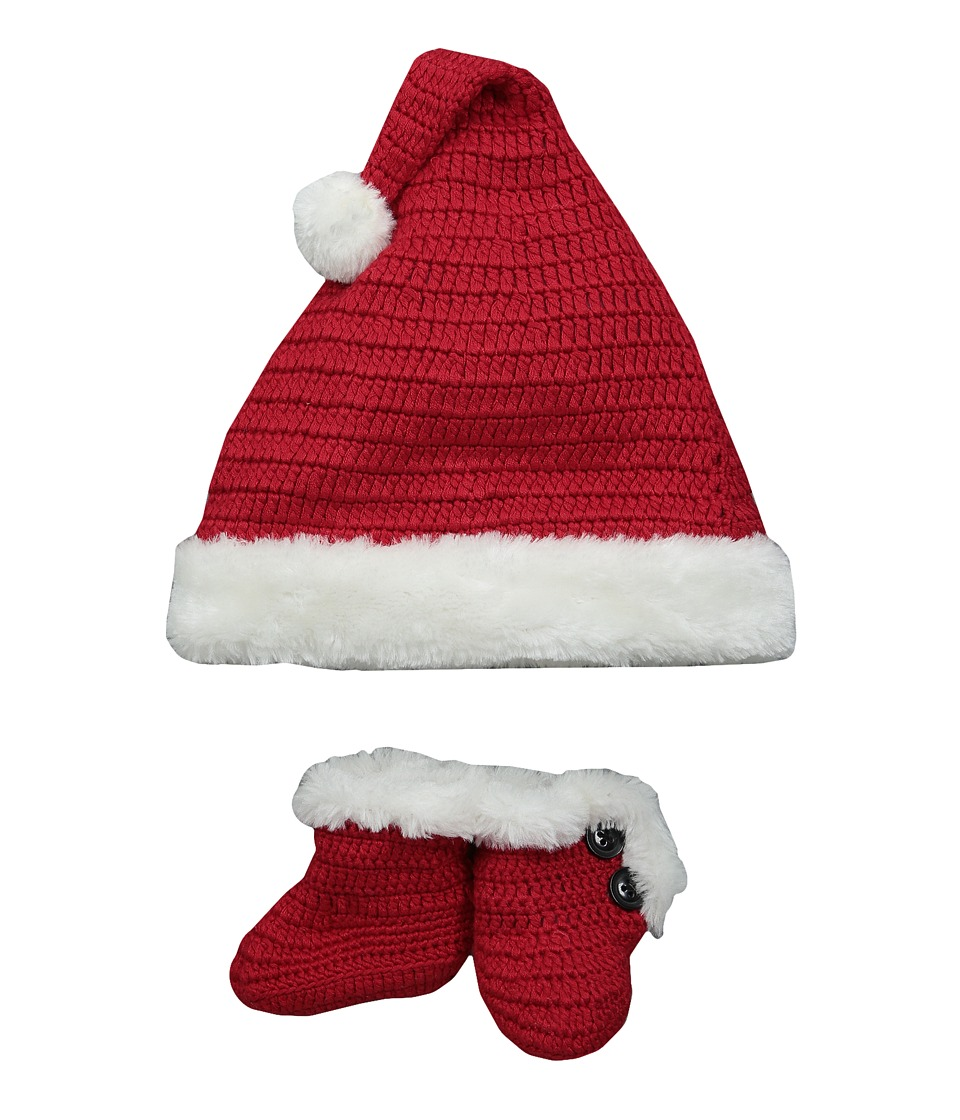 Baby Deer - Santa Hat and Bootie (Infant) (Red) Kids Shoes