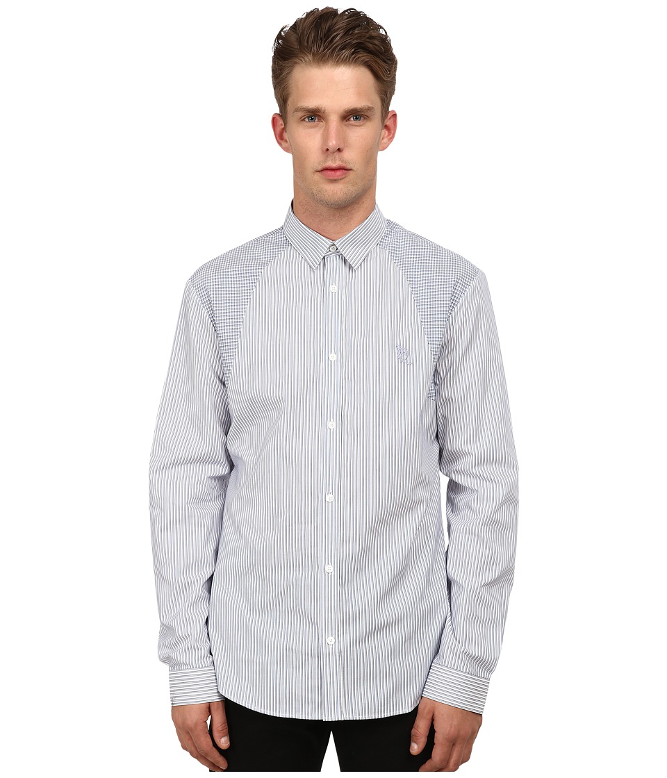 McQ - Harness Long Sleeve Button Up (Optic White Mix) Men's Long Sleeve Button Up