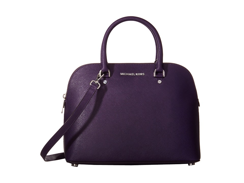 MICHAEL Michael Kors - Cindy Large Dome Satchel (Iris) Satchel Handbags