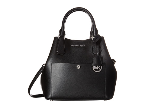 MICHAEL Michael Kors - Greenwich Large Grab Bag (Black/Steel Grey) Bags