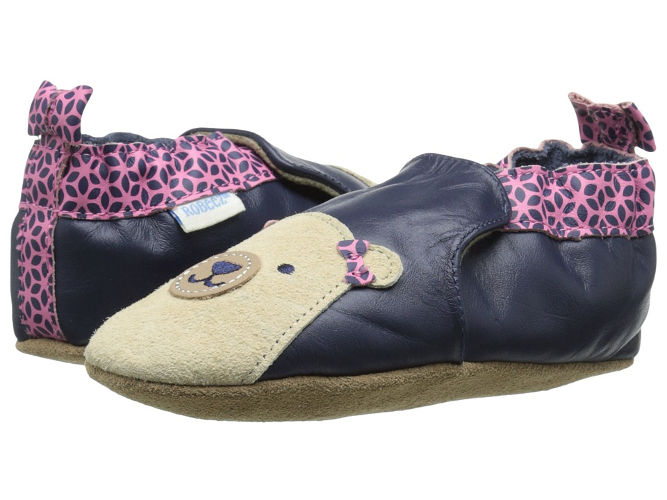 Robeez - Beary Bailey Soft Sole (Infant/Toddler) (Navy) Girls Shoes