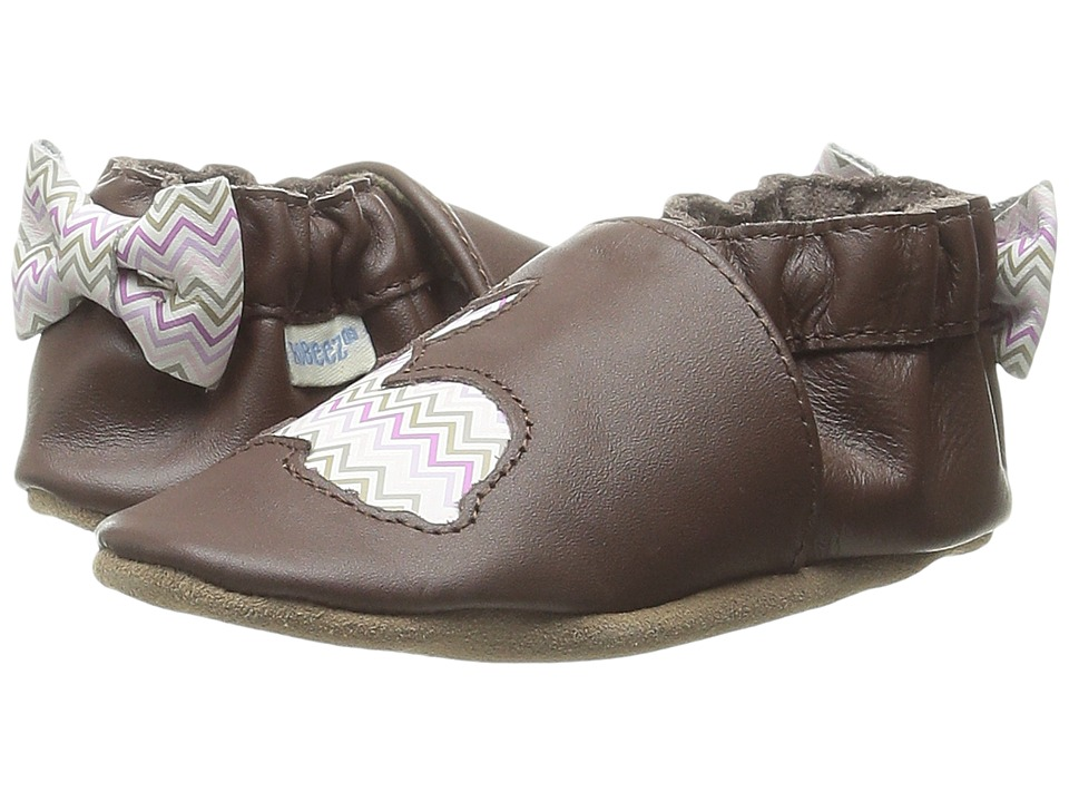 Robeez - Hopping Haley Soft Sole (Infant/Toddler) (Brown) Girls Shoes